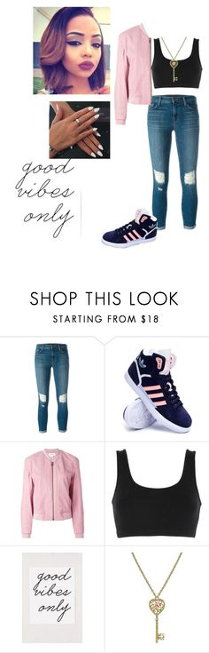 """Good vibes only ✌️"" by alyssa-christine-daigle ❤ liked on Polyvore featuring J Brand, adidas, Helmut Lang, adidas Originals, 1928, women's clothing, women, female, woman and misses"
