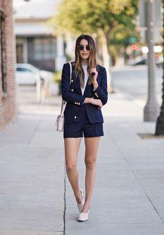 sailor blazer with shorts