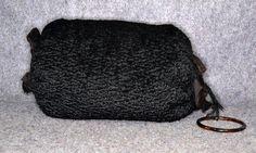 vintage antique real fur Persian Lamb muff black hand warmer down filled | eBay