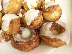 Baked Cinnamon Donuts (RECIPE IS FOR A DONUT MAKER Using Refrigerated Cinnamon Rolls)