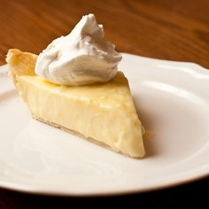 Lemon Sour Cream Pie ~ my mom got this recipe back in the and I still make it today. I use a shortening based crust so the focus is on the filling and cover the whole pie with whipped cream before cutting. Lemon Desserts, Great Desserts, Lemon Recipes, Sweet Recipes, Delicious Desserts, Sweet Pie, Sweet Tarts, Pie Dessert, Dessert Recipes