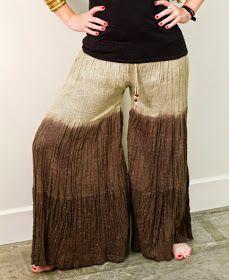 DIY: transformar una falda larga en un pantalón palazzo