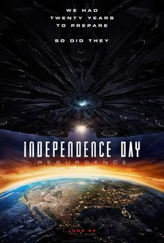 INDEPENDENCE DAY: RESURGENCE (DVD Release Date: 10/18/16) Starring: Liam Hemsworth, Jeff Goldblum, Bill Pullman -- Using recovered alien technology, the nations of Earth have collaborated on an immense defense program to protect the planet. But nothing can prepare people for the aliens' advanced and unprecedented force. Only the ingenuity of a few brave men and women can bring the world back from the brink of extinction.
