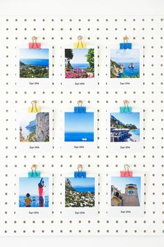 Five ways to showcase your summer memories — The Ordinary Lovely Ikea Pegboard, Pegboard Display, Memo Boards, Wall Of Fame, Craft Storage, Paper Storage, Craft Organization, Interior Design Photos, Summer Memories