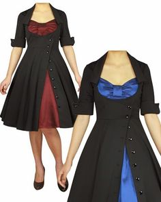 Blueberry Hill Fashions : Plus Size Rockabilly Dresses super cute I want these dressed Pretty Outfits, Pretty Dresses, Beautiful Dresses, Cool Outfits, Winter Outfits, Vintage Dresses, Vintage Outfits, Vintage Fashion, Rockabilly Fashion