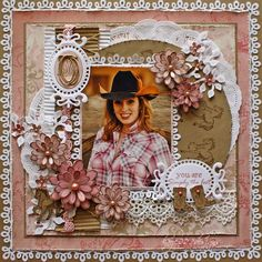 This page is simply gorgeous & definitely one to display outside of a scrapbook.