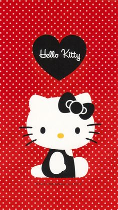 Red hello kitty #iPhone #5s #Wallpaper   Visit http://www.ilikewallpaper.net/iphone-5-wallpaper/ to get more wallpapers .