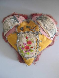 Antique WWI Sailors Sweetheart Pincushion ,England, To My Dear Sister