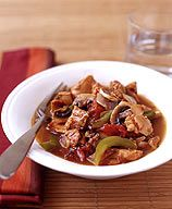 Slow Cooker Chicken Cacciatore: use skinless chicken breasts instead of thighs, nothing to count for tomato paste in the quantity used OR use up to double the amount of tomato sauce, count for wine (Don't use P+ calculator for alcohol.)