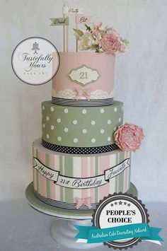 Tastefully Yours Cake Art! You can buy all the items you need to recreate this beautiful cake via our website sweetsuccess.uk.com/