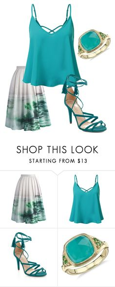 """water goddess"" by parispoodlefashion on Polyvore featuring Chicwish, BCBGMAXAZRIA and Blue Nile"