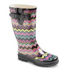 Women's Chevron Rain Boots Cute Rain Boots, Rain Shoes, Rubber Rain Boots, Wellies Boots, Shoe Boots, Shoes Heels, Target Clothes, Rain Gear, Uggs