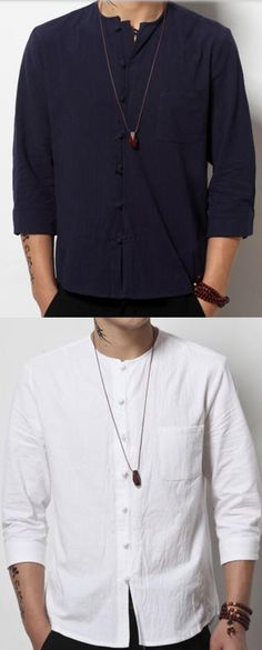 Men's Dailywear Date Simple Solid Round Neck Shirt