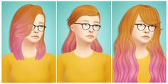 some cool ombres/clay hair/recolors 4 u today my friends :)) Thank you all for 300 followers, and I'm really hitting close to 350! If you'd like more of these recolors, I'll be happy to do them...