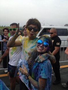 COLOR FUN RUN #G2B Bff Pictures, Bff Pics, Queen Of Hearts, Blue Hearts, Daniel Johns, Daniel Padilla, John Ford, Kathryn Bernardo, Meant To Be Together
