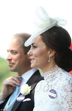 The Duke and Duchess of Cambridge getting into their carriage to take part in the parade d...