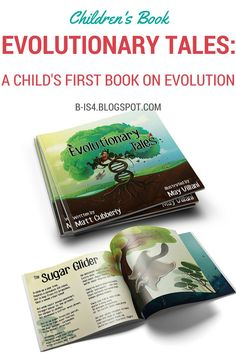 Children's Book: Evolutionary Tales is a book that is about 10 incredible different animals that takes you on an adventure with beautiful illustration and poems.  Great for kids 3-12 but adults will love reading it, too.  Perfect for gifts and back to school.
