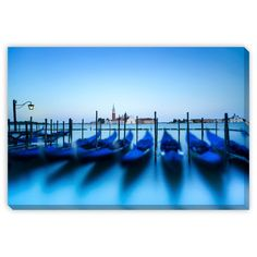 Gallery Direct Stevanzz's 'Gondolas at Sunset with Church' Gallery Wrap