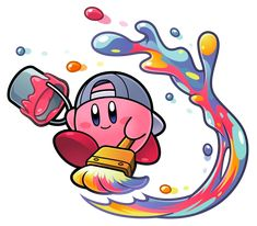 paint kirby i am paint