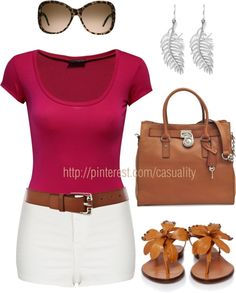 """Casual Hot Pants & Shades"" by casuality on Polyvore"