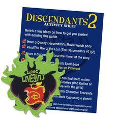 Save when you buy 5 items or more thru June 2018 Coupon Descendants Live EVIL Patch, Iron-on, Patch includes activity sheet. *Activity sheet will be email separately in a pdf. once order is placed. This patch is ideal for anyone who loves the Disney Scout Mom, Daisy Girl Scouts, Girl Scout Troop, Cadette Girl Scout Badges, Girl Scout Fun Patches, Disney Channel Descendants, Girl Scout Juniors, Brownie Girl Scouts, Cool Patches