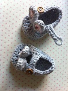 Easter Rabbit Bunny Baby Booties.