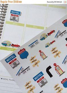 ON SALE Planner Stickers Travel Set Life Planner Plum Paper
