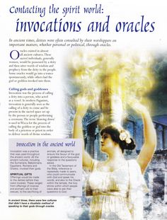 Contact the Spirit Worlds: Invocations and  Oracles...