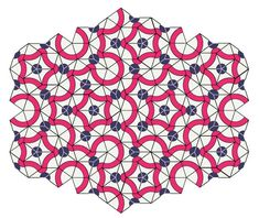 "Mathematics and Art - A Penrose Tiling ""The... - MATHEMATICS & NATURE A Penrose tiling is a non-periodic tiling generated by an aperiodic set of prototiles. Penrose tilings are named after mathematician and physicist Roger Penrose who investigated these sets in the 1970s."