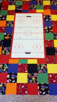 Cole's Hockey Quilt