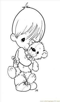 Coloring Pages Precious Moments 1 (8) (Cartoons > Precious moments) - free printable coloring page online