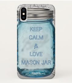 Rustic country Keep Calm and love mason jar Case-Mate iPhone Case / rustic iPhone XS case / afflink Keep Calm And Love, Plastic Case, Apple Iphone, Mason Jars, Iphone Cases, Rustic, Country, Country Primitive, Rural Area
