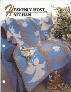 Heavenly Host Afghan Annie's Crochet Quilt by KnitKnacksCreations