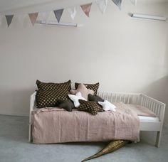 Handmade, linen bedding ,cushions, stars,garlands