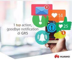Start minggu ini dengan lembaran yang baru, dimulai dari lembaran notification kamu! Cukup 1 tap di Fingerprint 2.0 Huawei GR5 kamu, langsung bersih dan plong rasanya! #huaweigr5 #kingoffingerprint #notificationfree