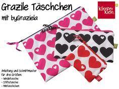 klimperklein: Muttertags-FreeBook: Grazile Täschchen mit byGraziela