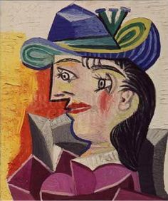 Woman with a Blue Hat, 1938 by Pablo Picasso