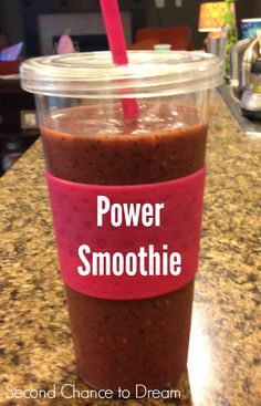 Second Chance to Dream:  How to make a Power Smoothie #smoothie #recipe #cleaneating