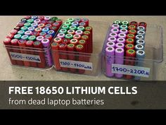 How To Get: Free 18650 Lithium Cells From Dead Laptop Batteries - YouTube