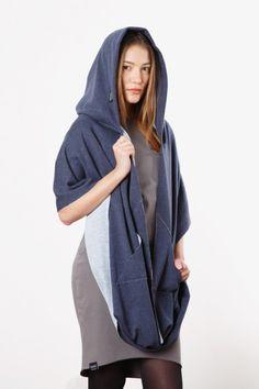 Schlauchschals - Mnishkha DIRTY BLUE JEANS - ein Designerstück von mnishkha bei DaWanda