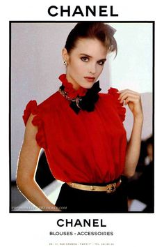 Chanel Blouses - Accessories  Chanel 1980s Vintage Fashion ...