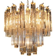 Venini Crystal Chandelier | From a unique collection of antique and modern chandeliers and pendants  at https://www.1stdibs.com/furniture/lighting/chandeliers-pendant-lights/