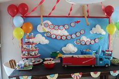 Cars n Trucks bday theme for Chace