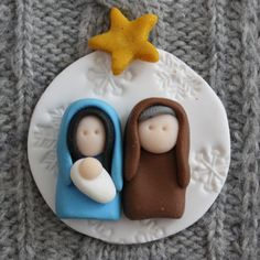 This listing is for a lovely Holy Family . Handmade with love. Beautifully detailed, flat backed topper can be used on cards, scrapbooking,