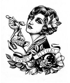 Sweet Ritual pin up traditional tattoo