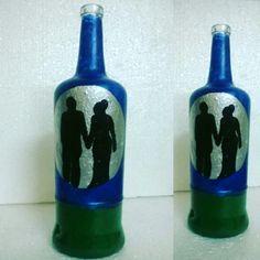 Couple on bottle