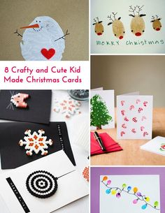 8 Crafty and Cute Kid Made Christmas Cards