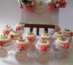E para a Chegada de Amanda Mimos Lindos para uma princesa Mini Baleiro #Maternidade #Baby #Mimos #personalizando #ateliealbuquerque #Amandachegou