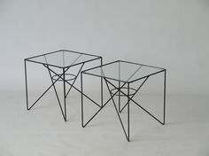 Pair of side tables designed by arnold bueno de mesquita 1950s. Available at Merzbau.