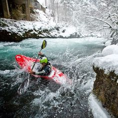 b7590944da32f the frozen waters of Washington's Little White Salmon. Photo: Eric Parker  via Canoe &amp
